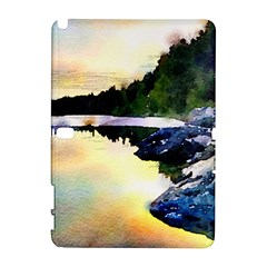 Stunning Nature Evening Samsung Galaxy Note 10 1 (p600) Hardshell Case by MoreColorsinLife