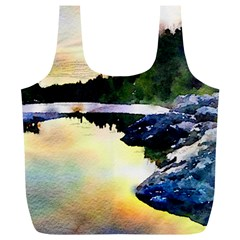 Stunning Nature Evening Full Print Recycle Bags (l)  by MoreColorsinLife