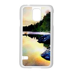 Stunning Nature Evening Samsung Galaxy S5 Case (white) by MoreColorsinLife