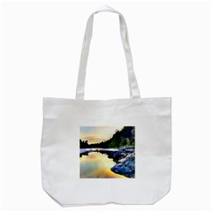 Stunning Nature Evening Tote Bag (white)  by MoreColorsinLife
