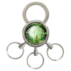 The Gate In The Magical World 3-ring Key Chains