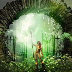The Gate In The Magical World Magic Photo Cubes by FantasyWorld7