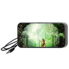 The Gate In The Magical World Portable Speaker (black)  by FantasyWorld7