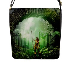 The Gate In The Magical World Flap Messenger Bag (l)