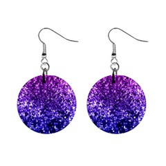 Midnight Glitter Mini Button Earrings by KirstenStar