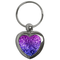 Midnight Glitter Key Chains (heart)  by KirstenStar