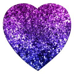 Midnight Glitter Jigsaw Puzzle (heart) by KirstenStar