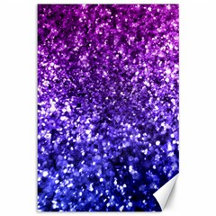 Midnight Glitter Canvas 12  X 18   by KirstenStar