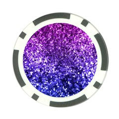 Midnight Glitter Poker Chip Card Guards (10 Pack)  by KirstenStar