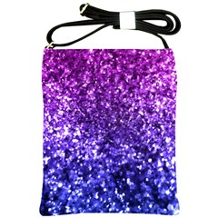 Midnight Glitter Shoulder Sling Bags by KirstenStar