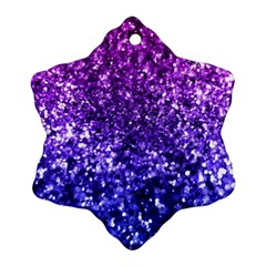 Midnight Glitter Ornament (snowflake)