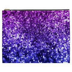 Midnight Glitter Cosmetic Bag (xxxl)  by KirstenStar