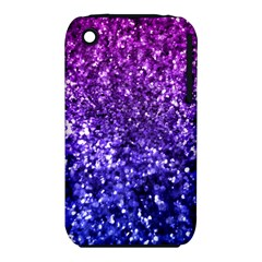 Midnight Glitter Apple Iphone 3g/3gs Hardshell Case (pc+silicone) by KirstenStar