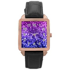 Midnight Glitter Rose Gold Watches by KirstenStar
