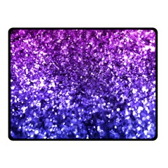 Midnight Glitter Double Sided Fleece Blanket (small)  by KirstenStar
