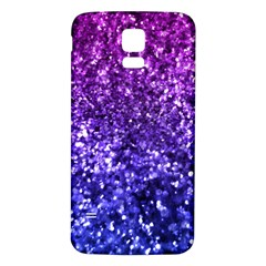 Midnight Glitter Samsung Galaxy S5 Back Case (white) by KirstenStar