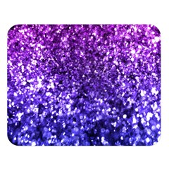 Midnight Glitter Double Sided Flano Blanket (large)  by KirstenStar