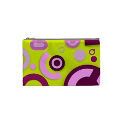 Florescent Yellow Pink Abstract  Cosmetic Bag (small)  by OCDesignss