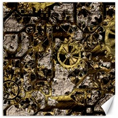 Metal Steampunk  Canvas 16  X 16   by MoreColorsinLife