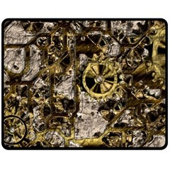 Metal Steampunk  Double Sided Fleece Blanket (medium)  by MoreColorsinLife