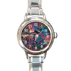 Steampunk Abstract Round Italian Charm Watches by MoreColorsinLife