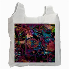 Steampunk Abstract Recycle Bag (one Side) by MoreColorsinLife
