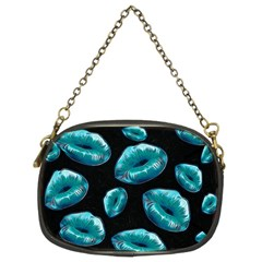 Turquoise Sassy Lips  Chain Purses (two Sides)