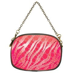 Florescent Pink Zebra Pattern  Chain Purses (two Sides)