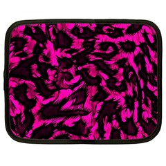 Extreme Pink Cheetah Abstract  Netbook Case (large)	 by OCDesignss
