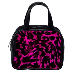 Extreme Pink Cheetah Abstract  Classic Handbags (one Side)
