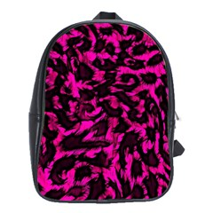 Extreme Pink Cheetah Abstract  School Bags(large)