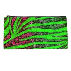 Florescent Green Zebra Print Abstract  Pencil Cases by OCDesignss