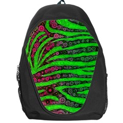 Florescent Green Zebra Print Abstract  Backpack Bag by OCDesignss