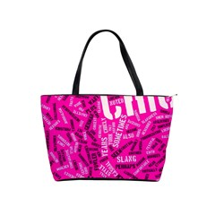 Hot Pink Chic Typography  Shoulder Handbags by OCDesignss