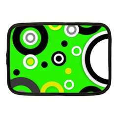 Florescent Green Yellow Abstract  Netbook Case (medium)