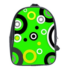 Florescent Green Yellow Abstract  School Bags (xl)