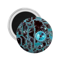 Steampunk Gears Turquoise 2 25  Magnets by MoreColorsinLife