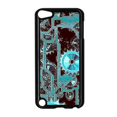 Steampunk Gears Turquoise Apple Ipod Touch 5 Case (black) by MoreColorsinLife