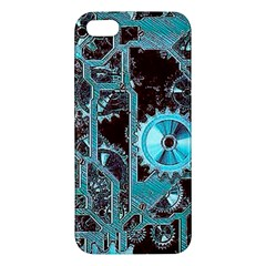 Steampunk Gears Turquoise Iphone 5s Premium Hardshell Case by MoreColorsinLife
