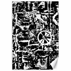 Steampunk Bw Canvas 20  X 30   by MoreColorsinLife