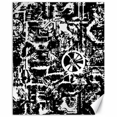 Steampunk Bw Canvas 11  X 14   by MoreColorsinLife