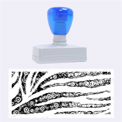 Turquoise Blue Zebra Abstract  Rubber Stamps (large)