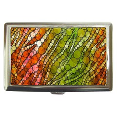 Orange Green Zebra Bling Pattern  Cigarette Money Cases