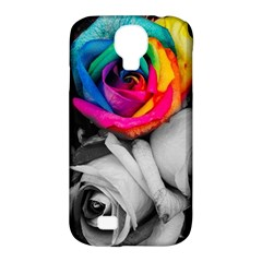 Blach,white Splash Roses Samsung Galaxy S4 Classic Hardshell Case (pc+silicone)