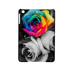 Blach,white Splash Roses Ipad Mini 2 Hardshell Cases