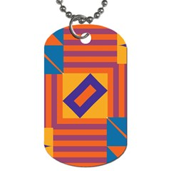 Shapes And Stripes Symmetric Design Dog Tag (two Sides) by LalyLauraFLM