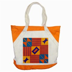 Shapes And Stripes Symmetric Design Accent Tote Bag by LalyLauraFLM