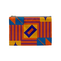 Shapes And Stripes Symmetric Design Cosmetic Bag (medium) by LalyLauraFLM