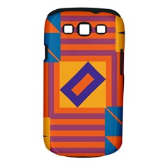 Shapes And Stripes Symmetric Design Samsung Galaxy S Iii Classic Hardshell Case (pc+silicone) by LalyLauraFLM