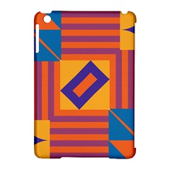 Shapes And Stripes Symmetric Design Apple Ipad Mini Hardshell Case (compatible With Smart Cover) by LalyLauraFLM